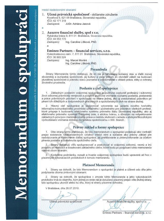 Memorandum - Auxerre a Emineo